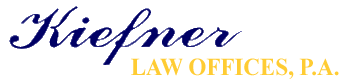 Kiefner Law Offices, P.A. Header Logo